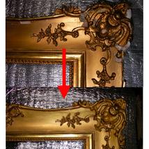 金箔額の修復