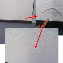 クロス壁紙の穴部分補修