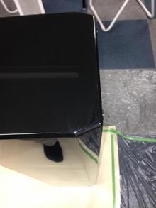 黒鏡面スピーカーの部分補修