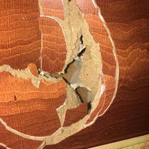 突き板扉の穴の補修